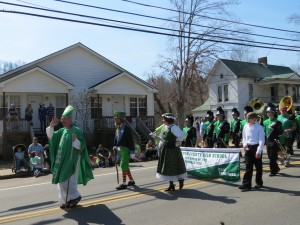 St Patrick Leads Parade