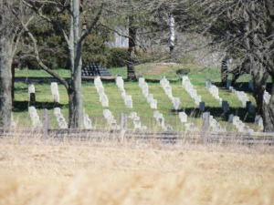 Across the fields to the Stones River Cemetery