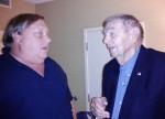 Mr Tyson talks to Pat at reunion
