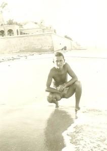 Vernon on Beach 1944