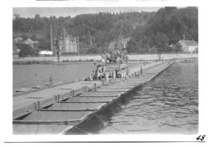 Crossing Meuse near Vise