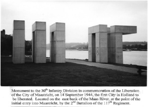 Monument to 30th at Maas River